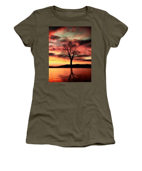 The Memory Tree Women's T-Shirt (Junior Cut) by Ally  White