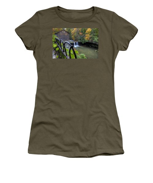 The Mill And Falls At Mill Creek Park Women's T-Shirt