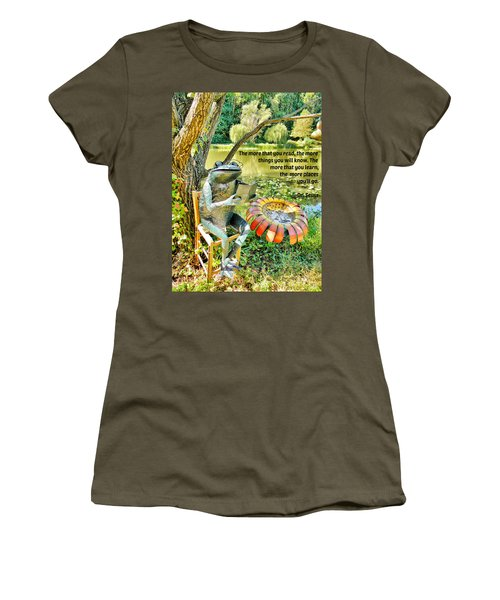 The More That You Read... Women's T-Shirt (Junior Cut) by Jean Goodwin Brooks
