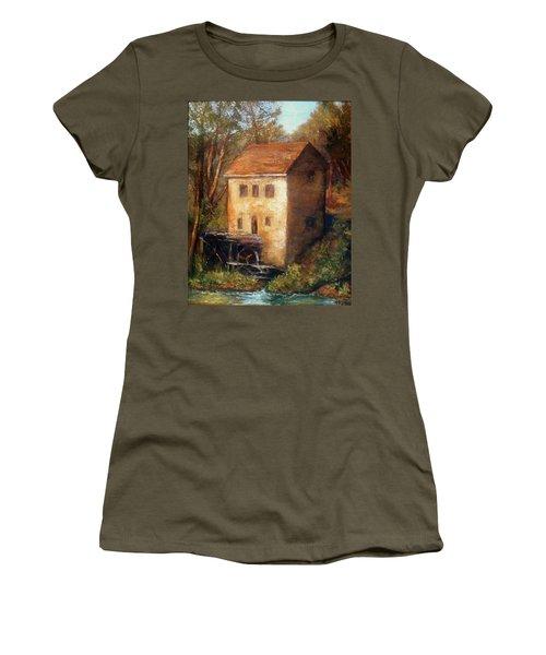 The Old Mill Women's T-Shirt (Junior Cut) by Gail Kirtz
