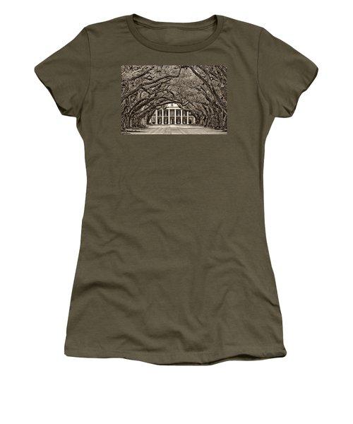 The Old South Sepia Women's T-Shirt (Junior Cut) by Steve Harrington