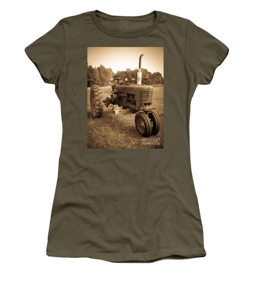 The Old Tractor Sepia Women's T-Shirt
