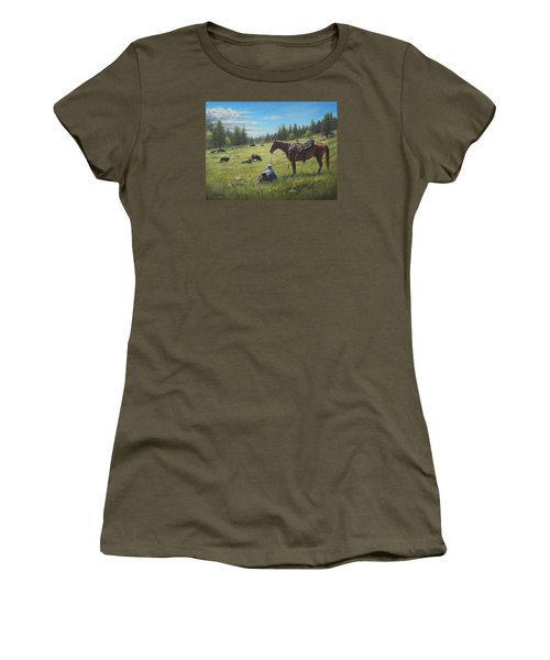 Women's T-Shirt (Junior Cut) featuring the painting The Perfect Day by Kim Lockman