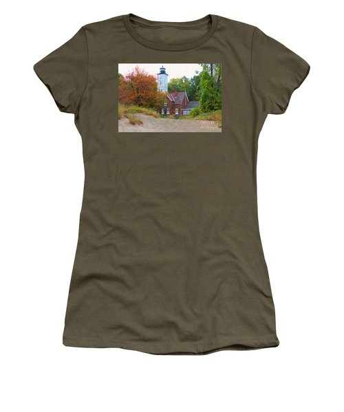 The Presque Isle Lighthouse Women's T-Shirt (Athletic Fit)