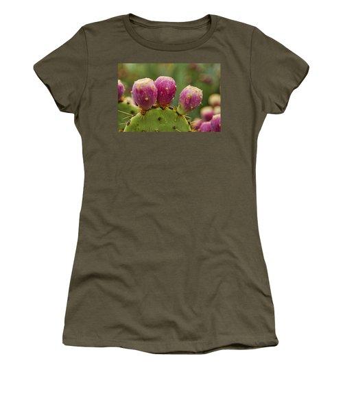 The Prickly Pear  Women's T-Shirt (Junior Cut) by Saija  Lehtonen
