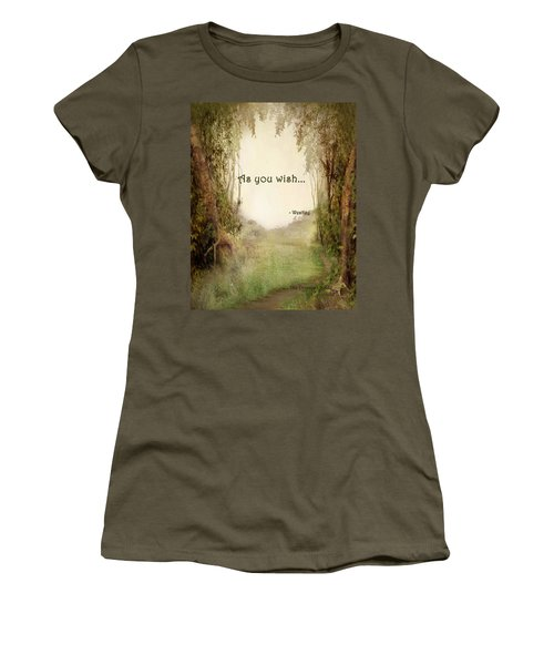 The Princess Bride - As You Wish Women's T-Shirt (Junior Cut) by Paulette B Wright