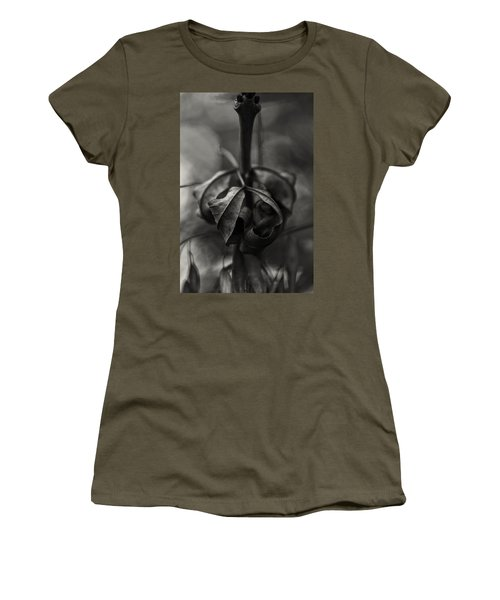Women's T-Shirt featuring the photograph The Rolled Leaf by Andreas Levi