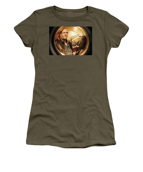 Women's T-Shirt (Junior Cut) featuring the painting The Sopranos  Artwork 1 by Sheraz A