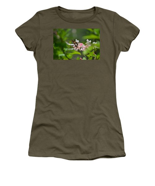 Women's T-Shirt (Junior Cut) featuring the photograph The Visitor by Tara Potts