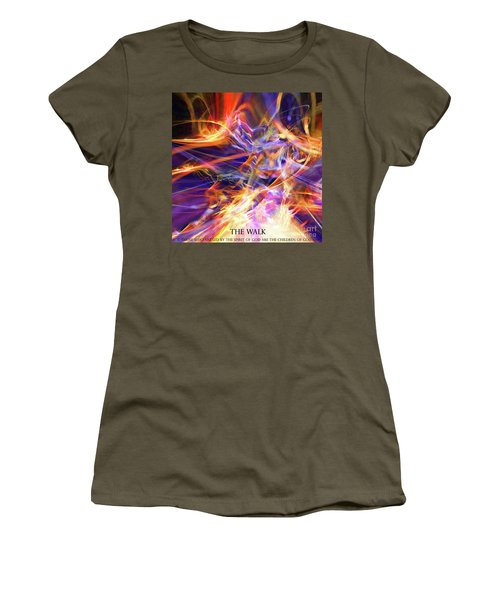 Women's T-Shirt (Junior Cut) featuring the digital art The Walk by Margie Chapman