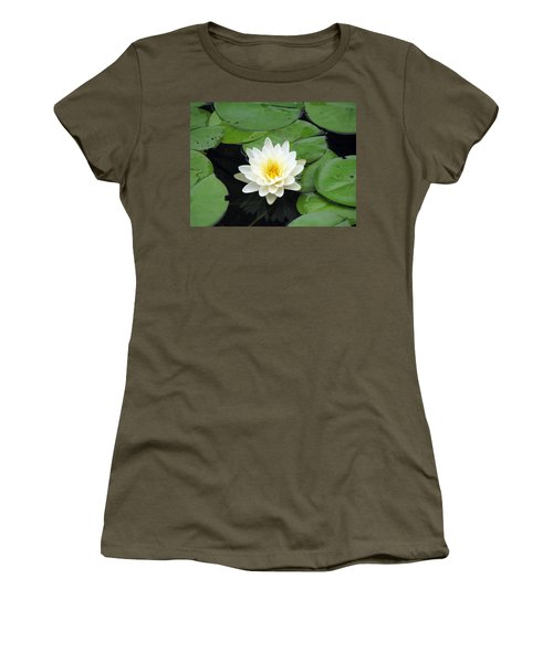 Women's T-Shirt (Junior Cut) featuring the photograph The Water Lilies Collection - 01 by Pamela Critchlow