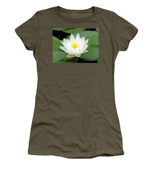 Women's T-Shirt (Junior Cut) featuring the photograph The Water Lilies Collection - 04 by Pamela Critchlow
