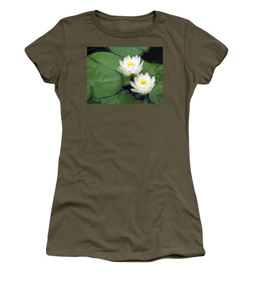 Women's T-Shirt (Junior Cut) featuring the photograph The Water Lilies Collection - 06 by Pamela Critchlow