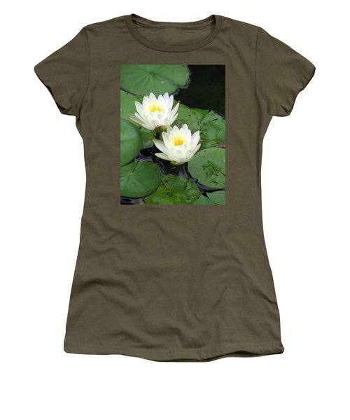 Women's T-Shirt (Junior Cut) featuring the photograph The Water Lilies Collection - 07 by Pamela Critchlow