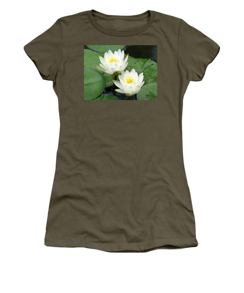 Women's T-Shirt (Junior Cut) featuring the photograph The Water Lilies Collection - 08 by Pamela Critchlow
