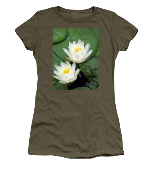 Women's T-Shirt (Junior Cut) featuring the photograph The Water Lilies Collection - 12 by Pamela Critchlow