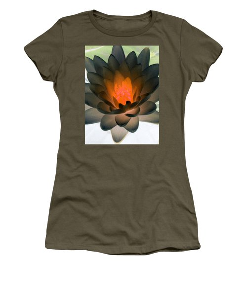 Women's T-Shirt (Junior Cut) featuring the photograph The Water Lilies Collection - Photopower 1036 by Pamela Critchlow