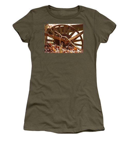 Women's T-Shirt (Junior Cut) featuring the photograph The Wheel Of Planting by Nick Kirby