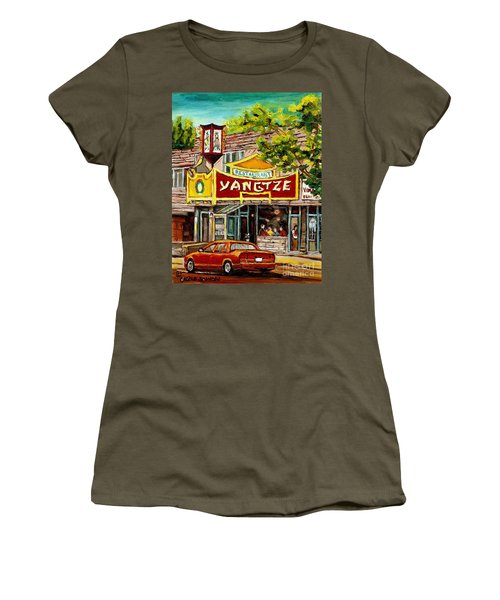 The Yangtze Restaurant On Van Horne Avenue Montreal  Women's T-Shirt