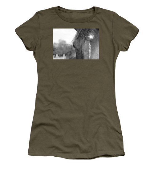 Thoroughbred B/w Women's T-Shirt
