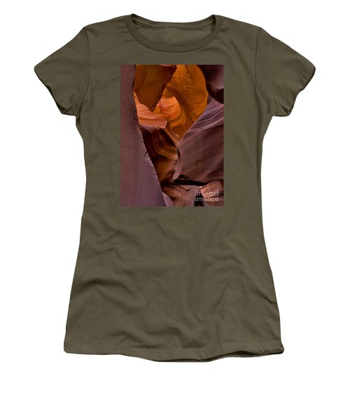 Women's T-Shirt featuring the photograph Three Faces In Sandstone by Mae Wertz