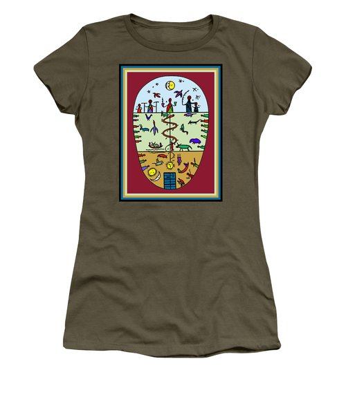 Women's T-Shirt (Junior Cut) featuring the digital art Three Layers Of Life by Vagabond Folk Art - Virginia Vivier