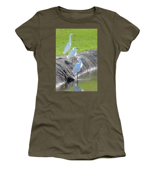 Women's T-Shirt (Junior Cut) featuring the photograph Three Stooges by Deb Halloran
