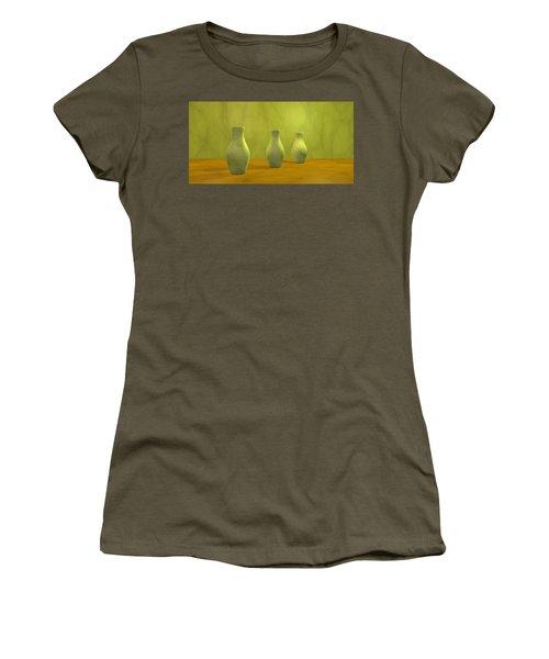 Women's T-Shirt (Junior Cut) featuring the digital art Three Vases II by Gabiw Art