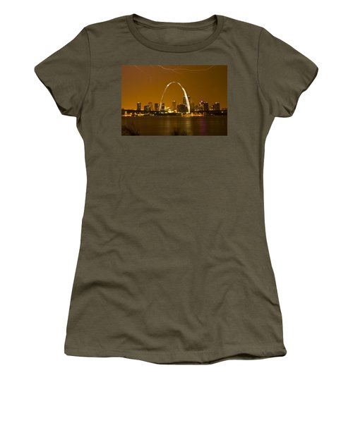 Thunderstorm Over The City Women's T-Shirt (Junior Cut) by Garry McMichael