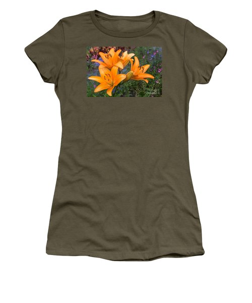 Tiger Lilies Women's T-Shirt (Junior Cut) by Arlene Carmel