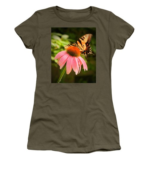 Tiger Swallowtail Feeding Women's T-Shirt (Athletic Fit)