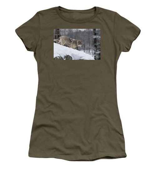 Timber Wolf On Hill Women's T-Shirt