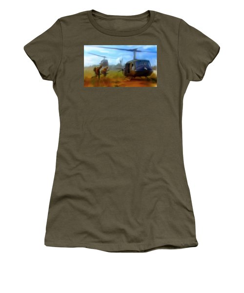 Time Sacrificed II Vietnam Veterans  Women's T-Shirt (Junior Cut) by Iconic Images Art Gallery David Pucciarelli