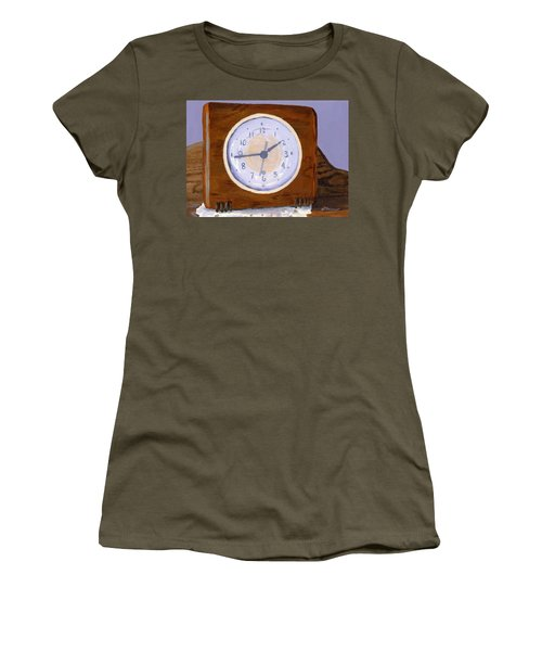 Women's T-Shirt (Athletic Fit) featuring the painting Time Will Tell by Lynne Reichhart