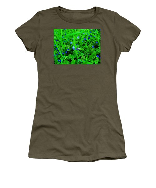 Women's T-Shirt (Junior Cut) featuring the photograph Tiny Butterfly by Sherman Perry