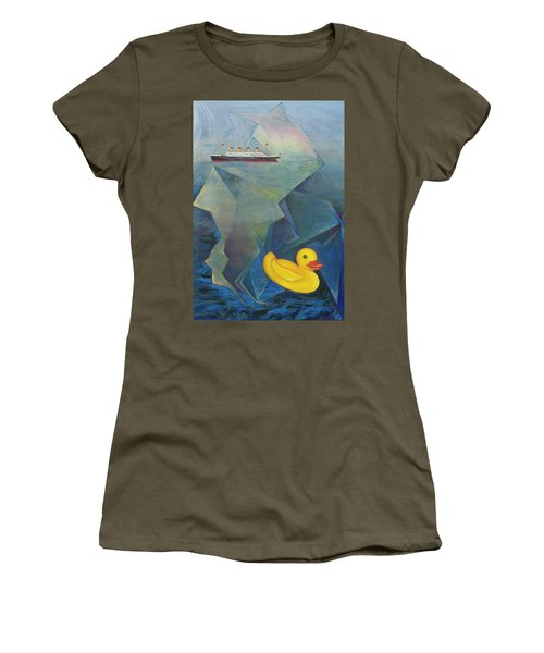 Titanic And The Ducky Women's T-Shirt