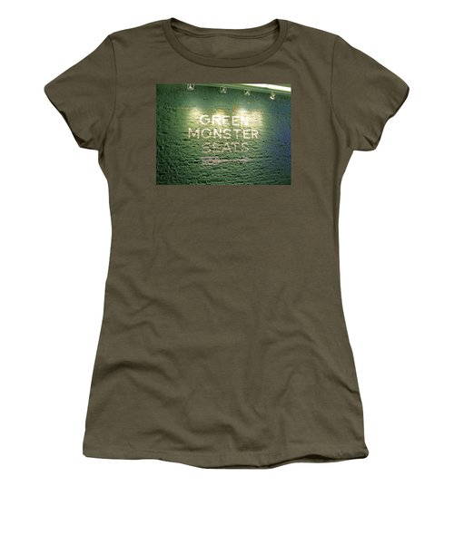 Women's T-Shirt (Junior Cut) featuring the photograph To The Green Monster Seats by Barbara McDevitt