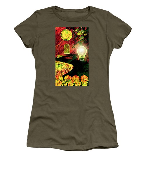Women's T-Shirt (Junior Cut) featuring the mixed media To The Light by Ally  White