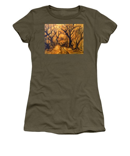 Toad Hollow Women's T-Shirt (Junior Cut) by Christophe Ennis