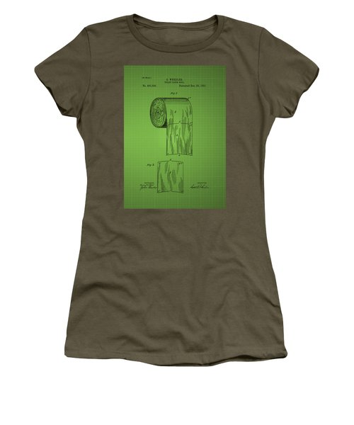 Toilet Paper Roll Patent 1891 - Green Women's T-Shirt