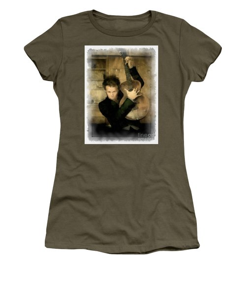 Tom Waits Women's T-Shirt (Junior Cut) by Paulette B Wright