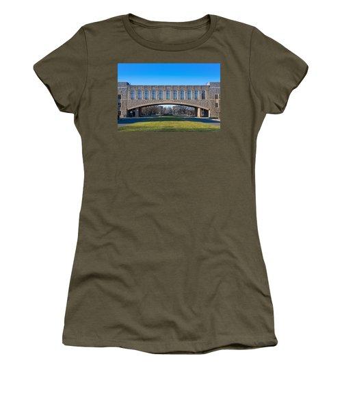 Torgersen Hall At Virginia Tech Women's T-Shirt (Junior Cut) by Melinda Fawver