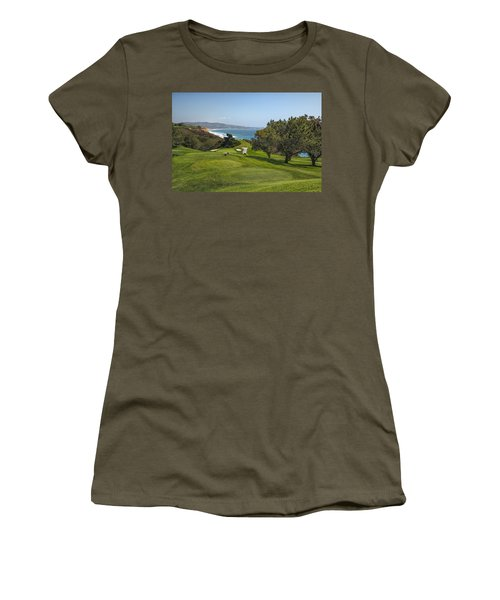 Torrey Pines Golf Course North 6th Hole Women's T-Shirt (Athletic Fit)