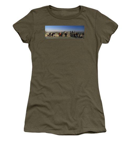 Tourists At An Observation Point Women's T-Shirt