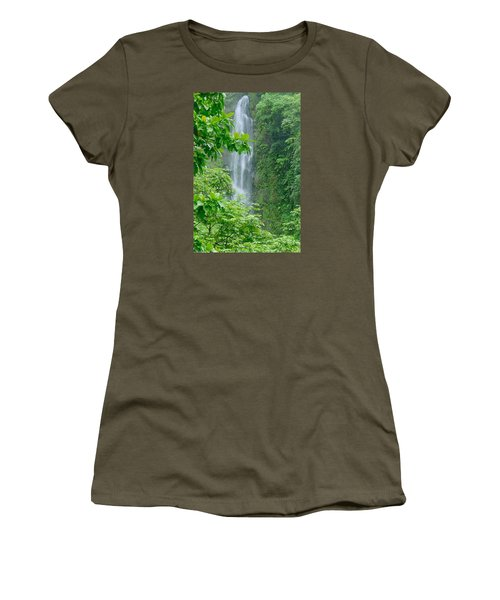 Trafalger Falls Women's T-Shirt (Junior Cut) by Robert Nickologianis