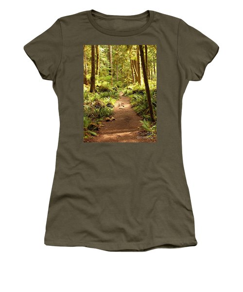 Trail Through The Rainforest Women's T-Shirt (Athletic Fit)