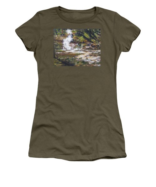 Trail To The Artists Paint Pots - Yellowstone Women's T-Shirt