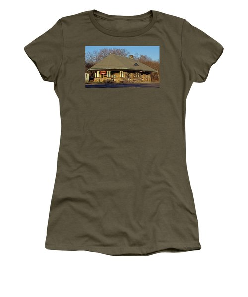Train Stations And Libraries Women's T-Shirt (Junior Cut) by Skip Willits