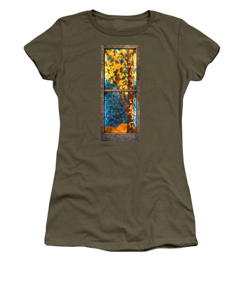 Tree Inside A Window Women's T-Shirt (Junior Cut)