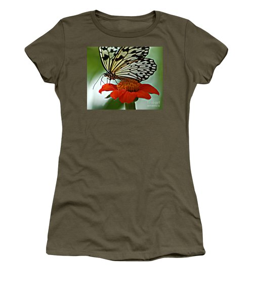 Tree Nymph Closeup Women's T-Shirt (Junior Cut) by Diane E Berry